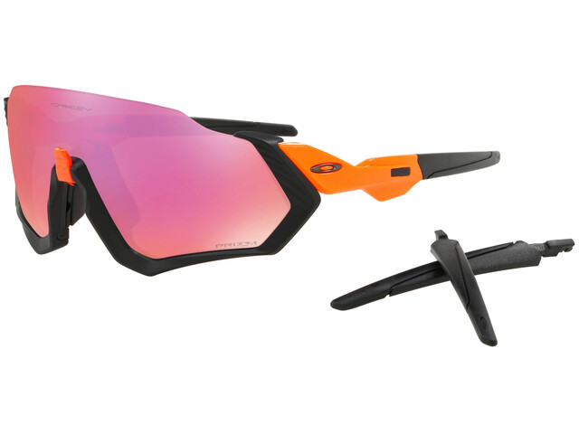 Oakley Flight Jacket Sunglasses Neon Orange/Prizm Trail